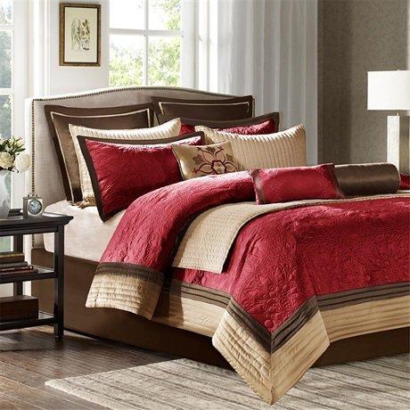 Madison Park Juliana Comforter Set - Red - King front-910786
