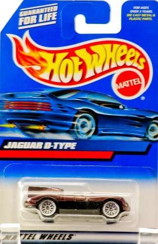 2000 - Mattel - Hot Wheels - Collector #180 - Jaguar D-Type - Metallic Burgundy - Huffman Hawks Graphics - Custom Wheels - China Chassis - New - Out of Production - Limited Edition - Collectible