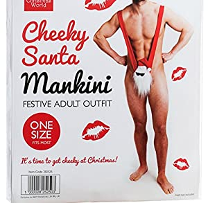 Cheeky Secret Santa Xmas Mankini Adult Outfit Christmas Gift For Him Boyfriend