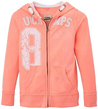 Camps - Sweat-shirt  capuche - Uni - Fille - Rose (Rose Fluo) - FR: 10 ans (Taille fabricant: 10)