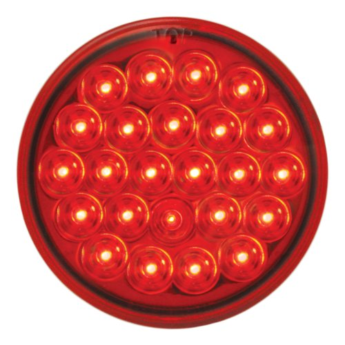 "Grand General 78273Bp Red 4"" Round Pearl 24-Led Stop/Turn/Tail Sealed Light"