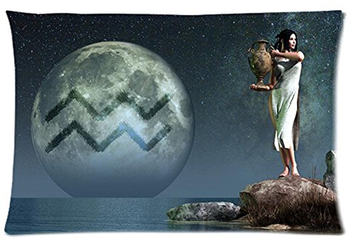 One Side Custom Rectangle Aquarius Of Zodiac Pillow Cases 16X24 Inch front-972163