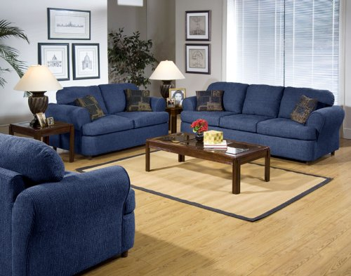 1000 serta upholstery hang tough blue fabric sofa loveseat living