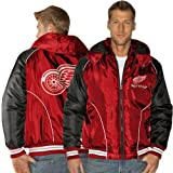 NHL Detroit Red Wings Touchdown Full Zip Hooded Jacket - Red/Black (X-Large) at Amazon.com