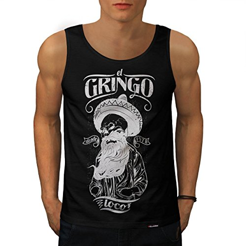 de8a71d8cc6a8 Gringo Beard Skull Mens NEW Mexico Life Black Tank Top M