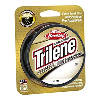 Berkley Trilene 100% Fluorocarbon 200 yard Spool**Sizes 4lb - 25lb**Carp Coarse Game Match Trout Salmon Pike Fishing Line Leader Tippet Cast from Berkley