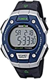 Timex Men's T5K8239J Ironman Classic Silver-Tone Digital Resin Watch with Black Resin Band