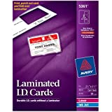 Avery 5361 Laminated I.D. Cards, Box of 30