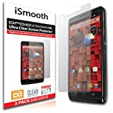 iSmooth Motorola Droid Ultra/Maxx Ultra Clear Premium HD Screen Protector 3 Pack (Lifetime Warranty)