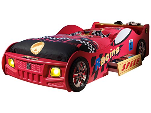 Emob Lit voiture Schumi rouge