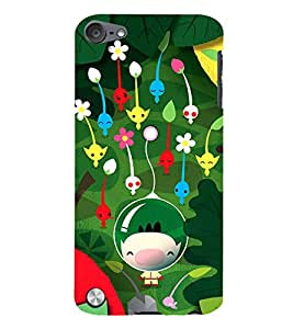 99Sublimation Boy Underwater with Flowers 3D Hard Polycarbonate Back Case Cover for Apple iPod Touch 6
