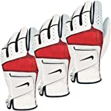 Nike Golf Men's Tech Xtreme IV Golf Glove - LH (3 Pack) - White/Black-Red - L