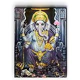 "Nish! 'Religious & Spiritual' Collection | Ganesha Art On Wood | Wall Decor Hanging Painting Indian (MDF Wood, 18""x24"", UV Cured, 1 Piece) For Living Room, Drawing Room, Temple, Mandir, Home, Gift | Hindu, Ganpati, God"