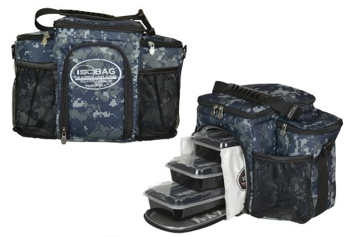Isobag 3 Meal Management System Military Edition-Full Camouflage (US Navy) -Insulated Lunch Box/Lunch Bag