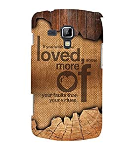 Wish To Be Love 3D Hard Polycarbonate Designer Back Case Cover for Samsung Galaxy S Duos S7562