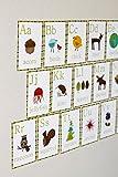 English Alphabet 5×7 Wall Cards, Nature Themed, Kid's Wall Art, Nursery Decor, Kid's Room Decor, Gender Neutral Nursery Decor