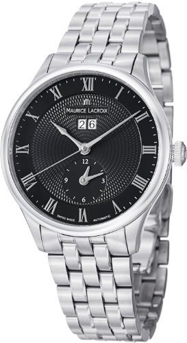 Maurice Lacroix Masterpiece Tradition Date Gmt Men'S Stainless Steel Automatic Watch Mp6707-Ss002-310