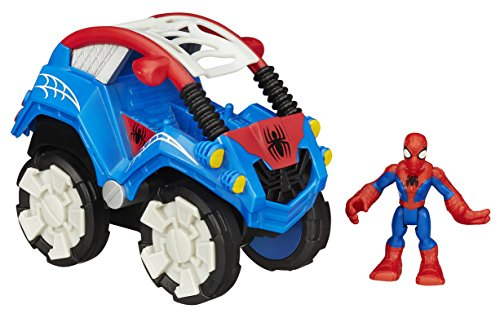 Marvel Playskool Heroes Flip-Out Stunt Buggy Vehicle with Spiderman Figure - 1