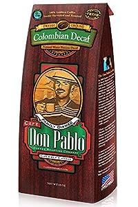 Café Don Pablo - Medium-Dark Ground - Water Process Colombian Decaffinated - 12oz Bag