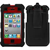 Ballistic HC Case for iPhone 4 & iPhone 4S, Red / Black