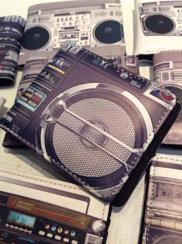 Old School Boom Box Radio Wallet Collection