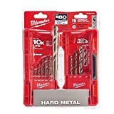 Milwaukee 48-89-2331 15-Piece Cobalt Red Helix Secure Grip Drill Bit Set w/ Hard Plastic Foldout Storage Case (Tamaño: Pack of 1)