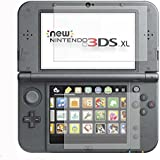 DelTex® 3 Sets Top & Bottom Nintendo 3DS XL LL Clear LCD Screen Protector Guards Including Cleaning Cloth And Applicator Card
