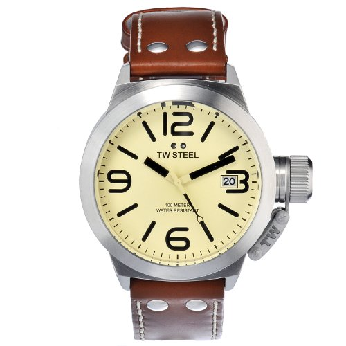 TW Steel Men's TW1R CEO Leather Strap Watch