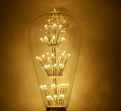 Stg 110V Edision Bulb Led Light Bulbs Chandeliers Fixtures Energy Saving Lamp Warm White Drawing Room Light Home Lighting (E27 Edision Bulb)