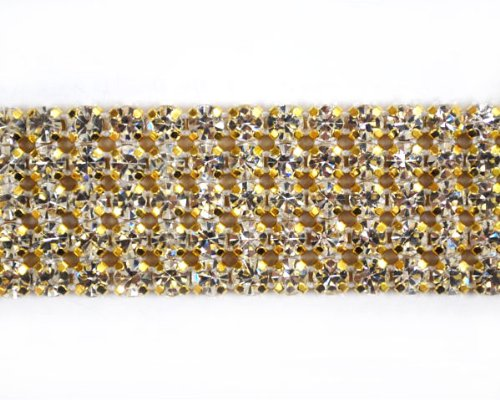 Gold Rhinestone Banding (5 Line) By Shine Trim