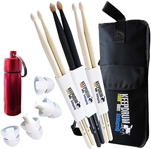 keepdrum-drumsticks-3-paar-je-1x-5b-5bb-7a-stickbag-sb-01-ohrstopsel-gehorschutz-earplugs