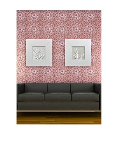 Tempaper Designs Medallion Self-Adhesive Temporary Wallpaper, Berry, 20.5 x 33'