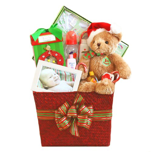 Baby'S First Christmas Gift Basket front-644582
