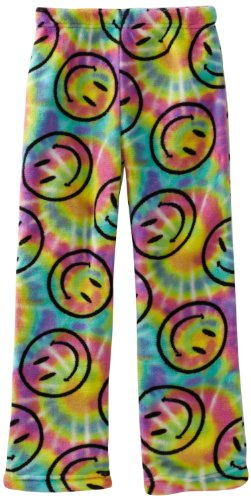 Fancy Girlz 7-16 Smiley Tie Dye Pajama Pant, Multi, Small (7/8)