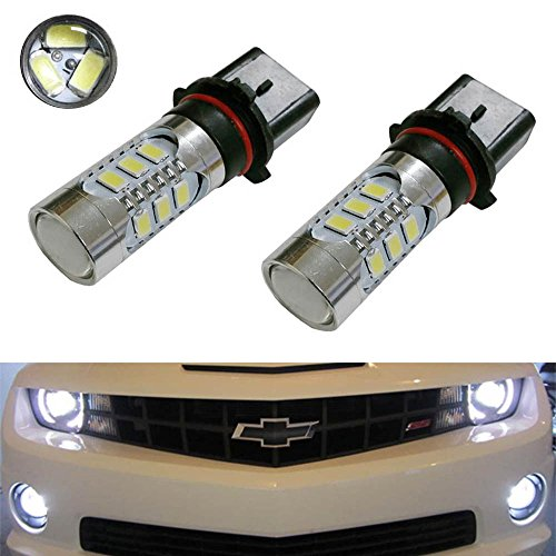 iJDMTOY (2) Super Bright Xenon White 15-SMD P13W PSX26W High Power LED Replacement Bulbs For 2010-2013 Chevy Camaro, 2013-up Mazda CX-5, 2008-2012 Audi A4/S4/Q5 Daytime Running Lights, etc (Chevy Camaro Lights compare prices)