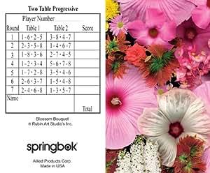 Blossom Bouquet Bridge Tallies (12 Pack) - 2 And 3 Table Progressive