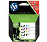 HP 364 Ink Cartridge Pack - cyan, magenta, yellow and black + Everyday Photo Paper - A4 - 170 g / m² - 25 sheets