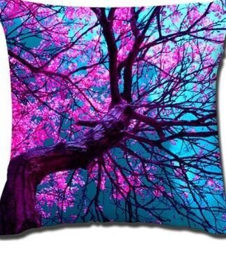 Popular Cotton Linen Decorative Pillow Covers,18x18 Inch Couch Throw Pillow Case purple/light blue/pink flower