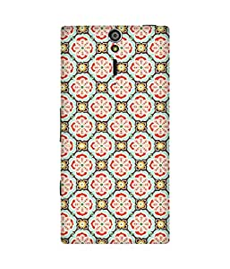 Mughal Print Printed Back Cover Case For Sony Xperia S