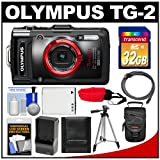 Olympus Tough TG-2 iHS Shock & Waterproof Digital Camera (Black) with 32GB Card + Case + Battery & Charger + Tripod + HDMI Cable + Accessory Kit