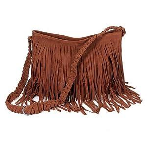 Fashion Tassel Celebrity Shoulder Messenger Cross Body Bag Tote Handbag 45