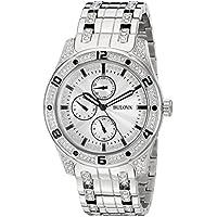 Bulova Men's Crystal Collection Quartz Silver-Tone Bracelet 43mm Watch