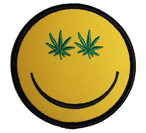 Application Weed Indeed Pot Smiley Patch