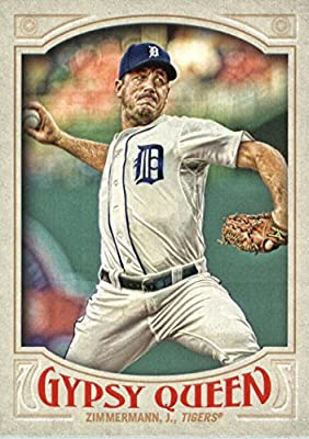 2016 Topps Gypsy Queen #46 Jordan Zimmermann Detroit Tigers Baseball Card in Protective Screwdown Display Case