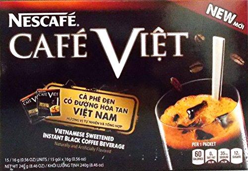 Nescafe Cafe Viet Vietnamese Sweetened Instant Black Coffee Beverage, 8.46 Oz.