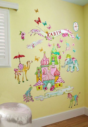 Oopsy Daisy Exotic Kingdom Peel and Place Wall Art, 54 by 60