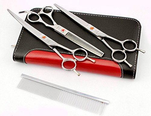 7inch Professional PET DOG Grooming scissors Cutting&Curved&