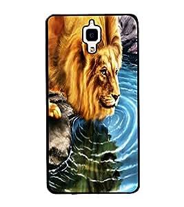 Fuson Premium 2D Back Case Cover Lion design With Multi Background Degined For Xiaomi Redmi Mi4::Xiaomi Mi 4