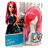 LIV: Doll Wig Accessory - Pink & Purple Hairstyle