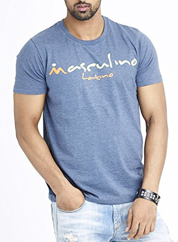 Masculino Latino Casual Multi-Coloured T-shirts Round Neck for Men MLT1007B-S